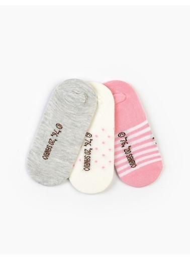 Hello Kitty 6 Çift Sneaker Çorap 15980 Gri